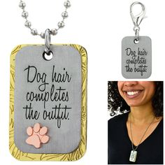 Dog Hair Necklace & Collar Charm Set at The Animal Rescue Site