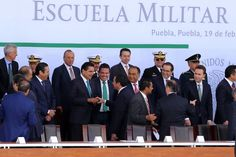 El gobernador de Michoacán asistió como invitado especial a la inauguración de la Escuela Militar de Sargentos en el estado de Puebla – Puebla, Puebla, 19 de febrero de 2017.-Los ...