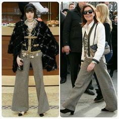 Pantalonas sempre trazem um ar sofisticado, principalmente com um tecido adequado.