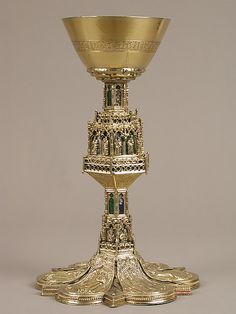 Chalice,15th century,Spanish.  Enameld,silver gilt
