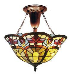 Tiffany 2 Light Inverted Pendant