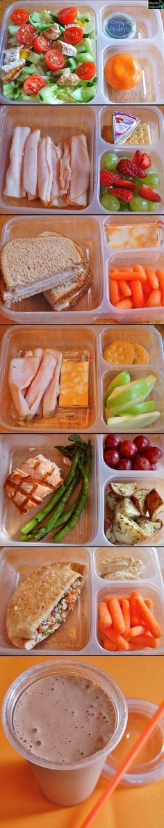 Healthy Lunch Ideas // make a bunch and stack in fridge for work school etc.,Healthy, Many of these healthy H E A L T H Y . Healthy Lunch Ideas // make a bunch and stack in fridge for work school etc. Lunch Snacks, Healthy Snacks, Healthy Recipes, Diet Recipes, Healthy Protein, Recipies, Lunch Recipes, Kid Snacks, Easy Snacks