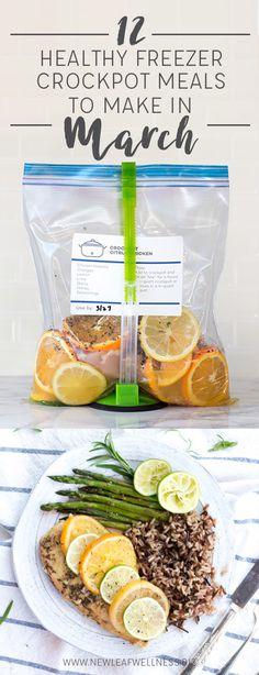 12 Healthy Crockpot Freezer Meals to Make in March | New Leaf Wellness | Bloglovin'