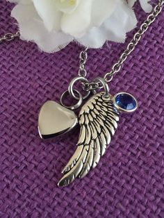 Urn Necklace Memorial cremation Jewelry by DesignsByTeraW