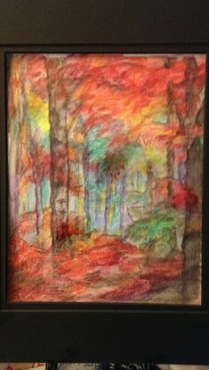 Autumn Symphony, inktense watercolor, original design impressions by gailynne