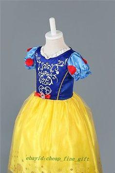Meninas Criança Branca De Neve Cinderela Rapunzel Fantasias Cosplay de Halloween Vestido Tutu