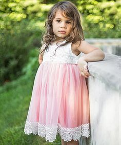 Another great find on #zulily! Coral Vintage Lace Tank Dress - Infant & Toddler #zulilyfinds