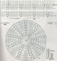 "Boina..Técnica: ""Crochet"" con diagrama de punto puntos contados extraida de la web. Espero les gust"