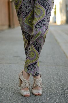 M Loves M: look book: paisley pant party featuring our SOLO heels