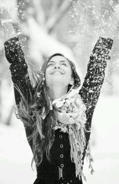 happiness is the first snowfall