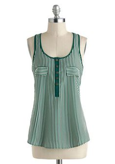 $30 Up to the Stripe Top, #ModCloth
