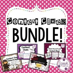 Context Clues BUNDLE - help your speech and language students tackle context clues and build their vocabulary.