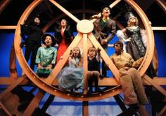 """Cast members rehearse scenes from """"James and the Giant Peach"""" at the Amarillo Little Theatre Mainstage."""
