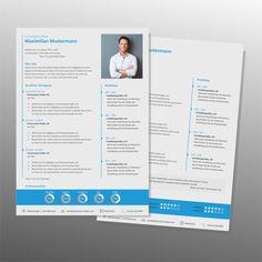 Top Job Bewerbung | Profi Lebenslauf Vorlage Maximilian hellblau