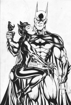 Batman and Catwoman by Carla Torres Catwoman Y Batman, Catwoman Cosplay, Batgirl, Batman Love, Im Batman, Batman Art, Batman Poster, Dc Comics Art, Comics Girls