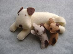 Custom Order Dog Family Toys Mama Dog -  Tuscanycreative / photos on the site