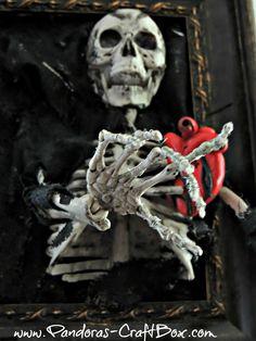 Pandora's Craft Box: Framed Skeleton Tutorial