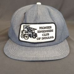 1edcd4a1d8548 VTG K-Products Pioneer Engineers Club of Indiana Snapback Hat Cap Patch USA   KProducts