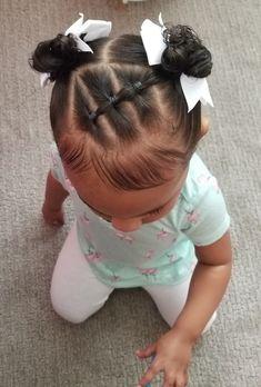 Black Baby Girl Hairstyles, Mixed Kids Hairstyles, Easy Toddler Hairstyles, Easy Little Girl Hairstyles, Girls Natural Hairstyles, Cute Girls Hairstyles, Kids Braided Hairstyles, Hairstyles For Babies, Girl Hair Dos