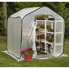 FlowerHouse Spring House 6 x 6Foot Portable Greenhouse ** Continue to the product at the image link.