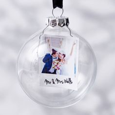Christmas baubles diy with the family christmas baubles polaroid mr and mrs personalised christmas bauble solutioingenieria Images