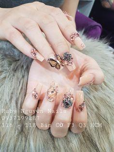 3d Nails, Swag Nails, Glitter Nails, Cute Nail Art, Cute Nails, Pretty Nails, Nail Gems, Angel Nails, Beauty Brushes