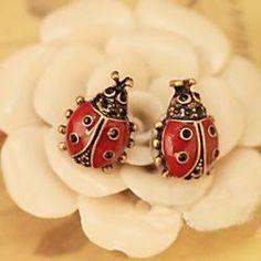 Retro fashion cute ladybug stud earrings vivid red female models E151 - buy for USD0.89
