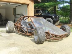 Race Car Tube Chassis Home Build -- This is a race car / street rod / home built / bad ass Go Cart from Hell.