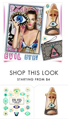 """""""Evil Eye!"""" by whirlypath ❤ liked on Polyvore featuring Gucci"""