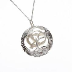 fcb540ee5 Details about Beautiful Children of Lir 4 Swan Silver Pendant the Irish  legend brought to life