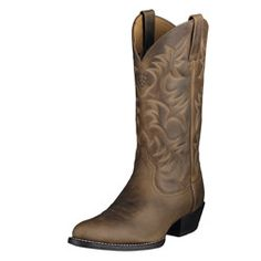 Heritage R Toe Brown Men's Western Cowboy Boots by Ariat