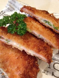 Fried ham and cheese