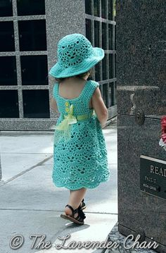 Lacy Shells Dress | AllFreeCrochet.com ~ how cute would your toddler look in this outfit - incl. dress & hat ~ advanced skill ~ FREE - CROCHET