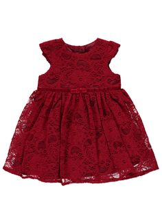 Baby George, Lace Bows, Asda, Dress With Bow, Summer Dresses, Formal Dresses, Baby Dress, Dress Outfits, Kids Fashion
