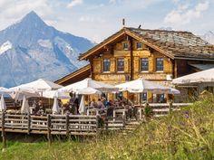 Mountain restaurant Hannighüsli Switzerland Tourism, Restaurant, Family Holiday, Mountain, Cabin, House Styles, Home Decor, Fine Dining, Cabins