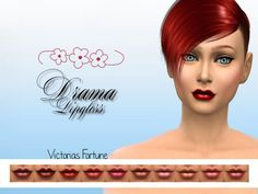 The Sims Resource: Drama Lipgloss by fortunecookie1 • Sims 4 Downloads