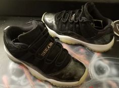 68cc9208459 Air Jordan 11 Retro Low BG Baron Black/White-Metallic Silver 528896-010 sz  4.5y #fashion #clothing #shoes #accessories #kidsclothingshoesaccs  #boysshoes ...