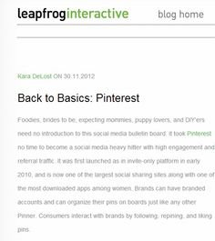 Back to Basics: Pinterest
