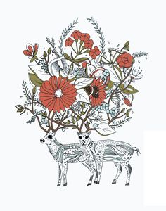 i really like this. if i was to ever do a sleeve, something like this (with deer) would be included.