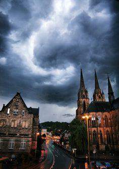 Thunderstorm over Marburg, Germany (by solar.empire)
