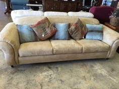 Cozy soft couch $495 #Couch  #Consignment #buyonline #Shop