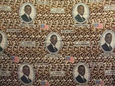 Obama commemorative fabric, 2009. Photo by Tomathon, via Flickr African Textiles, African Fabric, African Prints, Fabric Design, Pattern Design, Textile Texture, Nelson Mandela, Textile Patterns, Pattern Paper