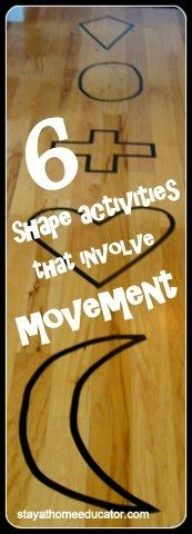 Six Shapes that Involve Movement: Awesome activity that combines movement and learning
