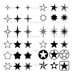 star shapes | Star shapes collection | Stock Vector © tuulijumala #2376786