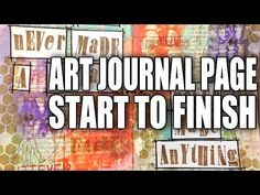 How to: Art Journal Page - Good Advice - by Mike Deakin - YouTube