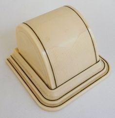 Vtg Art Deco Ivory Celluloid Ring Box Chest Presentation Dome ElecCityBox #ElecCityBox
