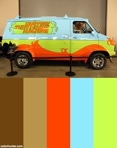 The Mystery Machine With Scooby Doo Color Palette