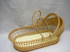 """27"""" Large Natural Wicker Bassinet Basket with Mattress ..."""
