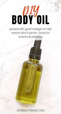 Oils For Eczema, Oils For Skin, Best Oil For Eczema, Best Oil For Skin, Beauty Base, Diy Beauty, Homemade Beauty, Best Body Oil, Diy Body Butter