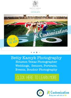 @smugmug site of the week from @jrcustomization - Betty Kamyk Photography - Houston Texas Senior, Portraits, Weddings, Events and Boudoir Photography.  click to read more...